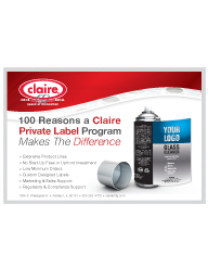 Claire Private Label Sanitary Maintenance Ad