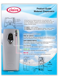 Claire Metered Dispensers Guide