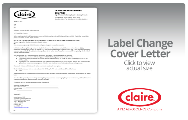 when epa mandates a label change then the new label must be used on product within 12 months of the mandate or at the next printing of the labels or litho
